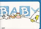 Glückwunschkarte Geburt Baby Junge Bärchen bekommt Besuch A6