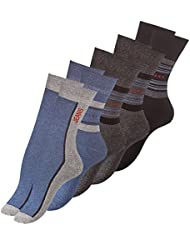 Lot de 10 paires de chaussettes - coton et élasthanne - aspect jean - femme