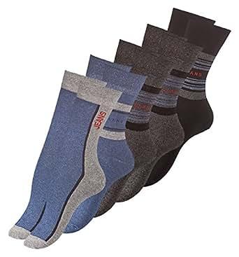 10 Paar Damen Socken mit JEANS Muster, Baumwolle mit Elasthan Gr.35/38