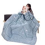 Winterdecke Winter-Lazy-Steppdecke mit Ärmeln Deckenschlafsack Lazy Quilt Decke Daunendecke Verdickte Gewaschene Schlafsack Hüttenschlafsack Sofa Decke Tragbare Bettdecke (E)
