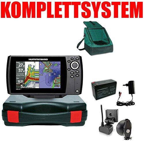 Humminbird Echolot GPS Plotter Portabel Basic Plus Komplett Helix 7 Chirp GPS G3