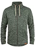 !Solid Luki Herren Fleecejacke Sweatjacke Jacke Mit Stehkragen Und Melierung, Größe:L, Farbe:Climb Ivy Melange (8785)