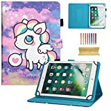 dteck Universal Schutzhülle für Samsung Galaxy Tablet, Apple iPad Mini, iPad 9,7, Amazon Kindle, Google Nexus und Mehr 16,5–26,7 cm Tablet 01 Cute Unicorn for 7.5-8.5 inch Tablet