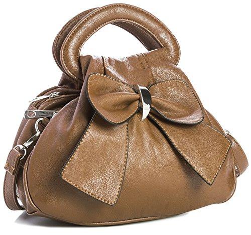 Big Handbag Shop - Borsa Da donna (Cammello medio)