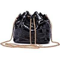 Sheli Donna Fashion in miniatura pu in pelle catena crossbody