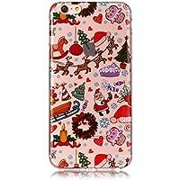 CreWin iPhone 7/iPhone 8 Hülle Weihnachten Weiche Silikon Handyhülle Merry Christmas Gel TPU Transparent Bumper... preisvergleich bei billige-tabletten.eu