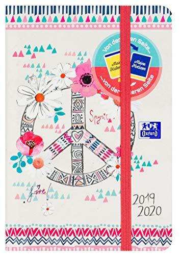Oxford 400123417 Schülerkalender 2019/2020 Boho Chic 1 Tag pro Seite mit 176 Blatt mit Optik Paper SCRIBZEE kompatibel im Design Peace