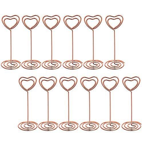 Herzförmige Platzkartenhalter, roségold