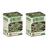 Cvetita Herbal Military Force Pack, Pre allenamento formula, Arginine AKG, L Carnitine, Leuzea ECDYSTERONE, ginseng, tè di mursala, tè verde, cardo (200 capsules)