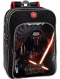 Star Wars The Force Mochila Adaptable a Carro, Doble Compartimento, Color Negro