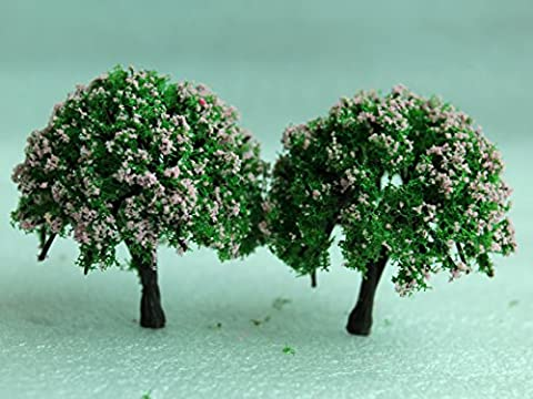SecretRain Miniature Garden Fairy Ornament Flower Pot Plant Pot Home Decor 2pcs Tree Set