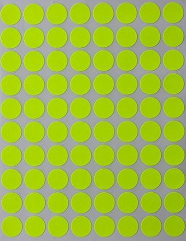 1/2(0,5) Demi pouce rond Blanc de codage étiquettes -- Value Pack Blanc Dot Stickers–-dot Labels–-semi Fini brillant (lot de 1200)