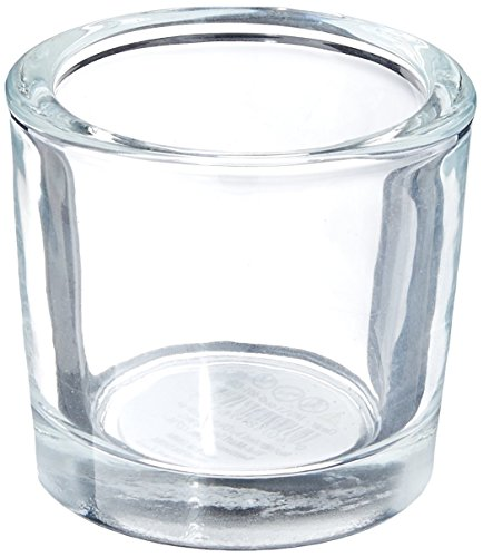 HOSLEY 's Set of 24Heavy Klar geschoben Glas Teelicht, Kerzenhalter-6,1cm hoch. IDEAL FÜR HOCHZEITEN, Partys, SPA, Aromatherapie, Bridal, Reiki, Meditation, Bulk kaufen (Teelicht Bulk Kerzenhalter)