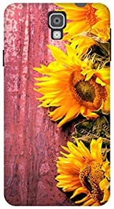 The Racoon Grip Fresh Sunflowers hard plastic printed back case / cover for Samsung Galaxy Note 3 Neo