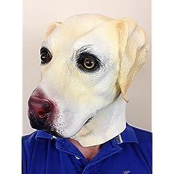 Máscara de labrador dorado.