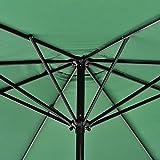 [casa.pro]®] Sonnenschirm Ø300cm Grün Gartenschirm Marktschirm Kurbelschirm Sonnenschutz für Garten Terasse Balkon