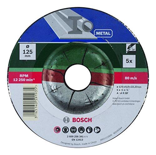 Bosch DIY Schruppscheibe Metall für Winkelschleifer (5 Stück, Ø 125 mm) Test