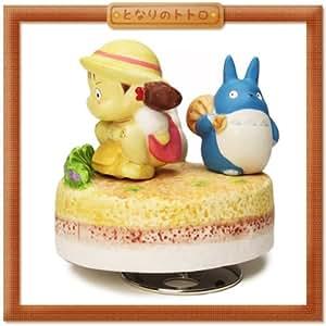 Studio Ghibli - Mon voisin Totoro - Diorama avec musique - Personnage de Mei et des chibis - Hauteur 11 cm
