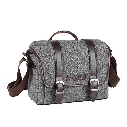 K&F Concept Kameratasche Messenger Tasche Fototasche Umhängetasche für eine Systemkamera und ein Objektiv S