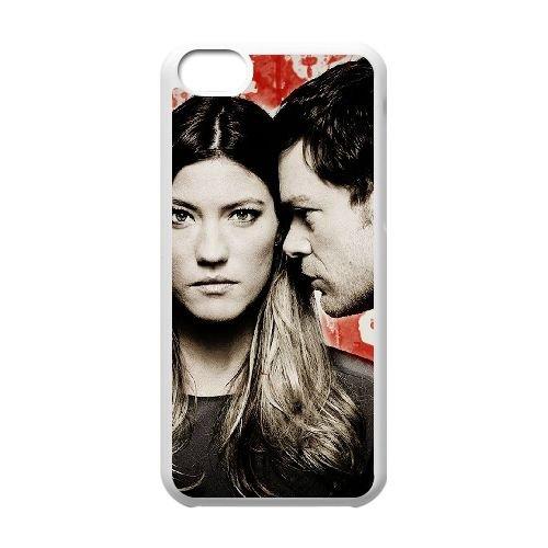 Dexter Blood coque iPhone 5C Housse Blanc téléphone portable couverture de cas coque EBDXJKNBO09660