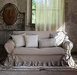 Copridivano 2 posti collezione basic blanc mariclo bicolor - Copridivano amazon ...