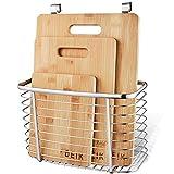 Tagliere, Set Tagliere in Bambù DEIK, Tagliere da Cucina Set da 3 Confezionato con Portabottiglie in Acciaio Inox, Organico e Antibatterico