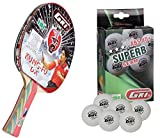 #3: GKI Kung Fu DX Table Tennis Racquet Combo Set