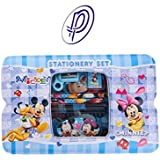 Parteet Cartoon Printed Pencil Box With Accessories For Kids