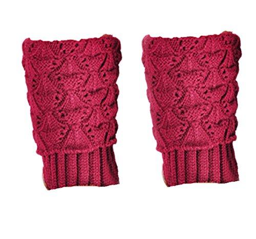Jelinda® Damen Jakobsmuschel pattern Kofferraum Revers Beinlinge Socken (Weinrot)