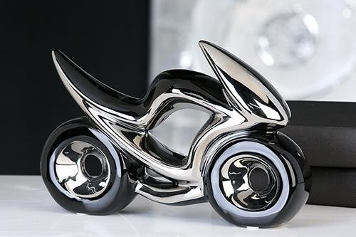 Skulptur Motorrad Keramik 31 cm Kunst Art Shopper Bike Figur (Bike-skulptur)