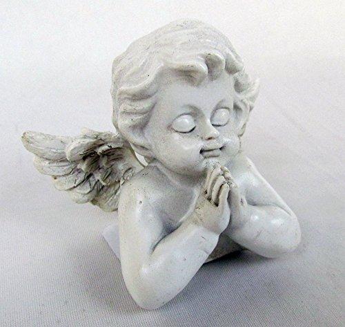 Betender Engel Büste Figur für Haus und Garten aus Kunststein (Statue Betender Engel-garten)