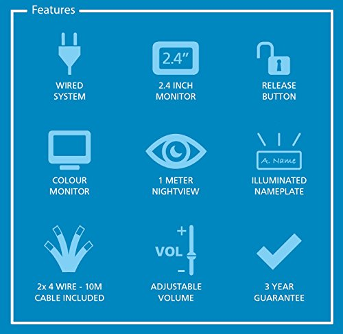 Smartwares Video-Türgegensprechanlage für 2 Teilnehmer, VD62 SW - 5