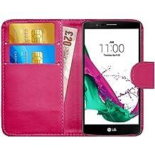 Funda LG G4, G-Shield Carcasa Libro de Cuero Con Tapa y Cartera [Ranuras para Tarjetas] [Cierre Magnético] Funda Billetera Case Cover Para LG G4 - Rosa