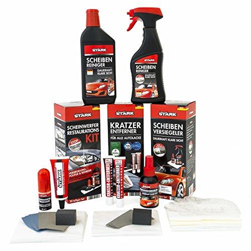 Autopflege-Set Special 37-teilig mit Kratzer-Entferner, Scheinwerfer-Restauration und Scheiben-Versiegelung