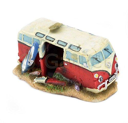 aquarium deko transporter hippie bus bulli auto t1 autowrack wrack aquarien deko bunte. Black Bedroom Furniture Sets. Home Design Ideas