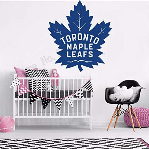 Lvabc Toronto Maple Leafs Wanddekoration Vinyl Kunst Entfernbare Poster Schönheit Schlafzimmer Dekor Moderne Ornament 42X47 Cm