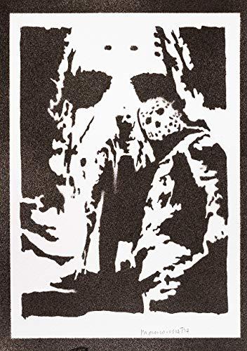 Freitag Der 13 Jason Voorhees Poster Plakat Handmade Graffiti Street Art - Artwork (Arten Von Zombie Kostüm)