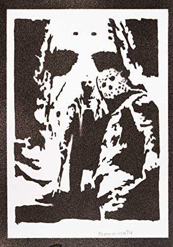 Freitag Der 13 Jason Voorhees Poster Plakat Handmade Graffiti Street Art - Artwork