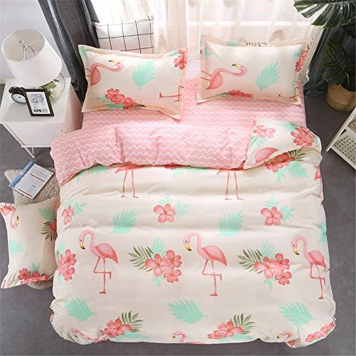 YUNSW Single Twin Voll Königin König Big Size Bettbezug Blatt Kissenbezug Bettwäsche Set aus weicher Baumwolle Heimtextilien B 220X240cm / 87X94In