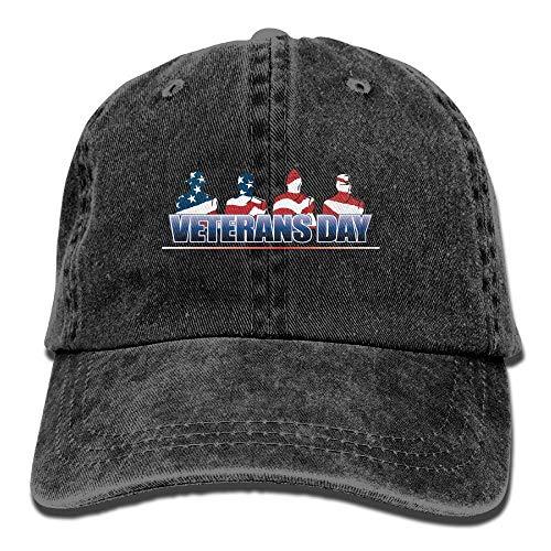 Hoklcvd Männer & Frauen Veteranen D Vintage Washed gefärbte Baumwolle einfarbig Baseball-Mütze One Size Fashion30