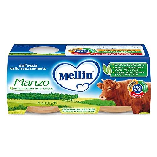 Mellin omogeneizzato di manzo 100% naturale - 12  vasetti da 80 gr