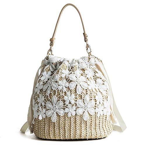 Gewebte Clutch-handtasche (Puedo Exquisite Strand-Clutch, Handtasche aus Spitze, handgefertigt, Stroh gewebt, Handtasche Schultertasche für Damen)