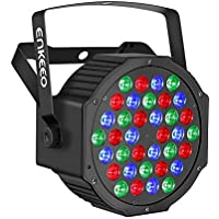 ENKEEO 36 LEDs Luz Par Escenario Espectroscópico 3 Colores, 6 Modos DMX y Control Remoto para Discotecas, Conciertos, Festivales, Fiestas Outdoor e Indoor, Boda, Shows, Espectáculos Nocturnos, Discotecas, con Base de Montaje Incluido