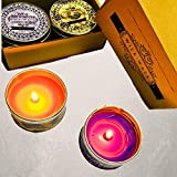 Pack Of 2 Handmade Scented Candles In Tin Jar Jasmine Scented Candles Aroma Apple Cinnamon Scented Candles For Home Decoration Scented Candles For Bedroom Diwali Gifts By Wick-Wack
