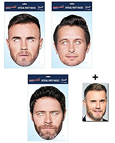 Mask Pack - Take That Set of 3 2D Official