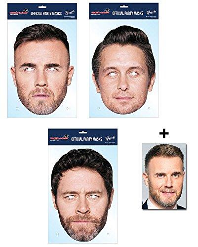 Kostüm Howard - Take That Variety Karte Partei Gesichtsmasken (Maske) Packung von 3 - Enthält 6X4 (15X10Cm) starfoto