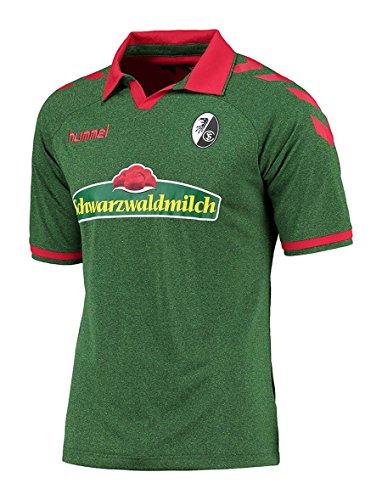 Hummel SC Freiburg Kurzarm-Trikot Ausweich 2016/2017 Kinder grün-melange green-melange, 152