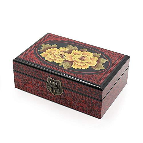 QJKai Push-Lack Ware Schmuck Box Schmuck Box Geschenk Box Lack Handwerk -