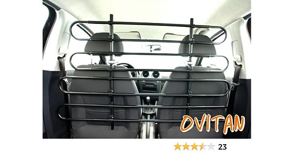 Ovitan Hundegitter Fürs Auto 8 Streben Universal Zur Befestigung An Den Kopfstützen Der Vordersitze Für Alle Automarken Geeignet Modell V08 Haustier