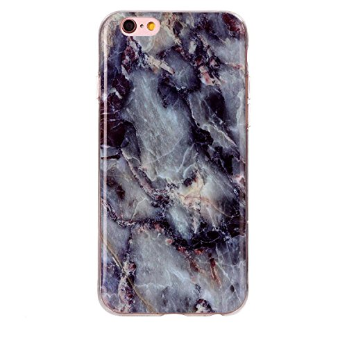 "MOONCASE Ultra-mince Motif Marbre Naturel Blanc Rayure TPU Silicone Housse Coque Etui Gel Case Cover Pour iPhone 6 / iPhone 6S 4.7"" Brun"